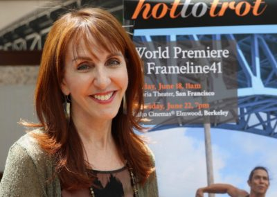 Director Gail Freedman at Frameline Festival, San Francisco (Photo by Andrea Salles)