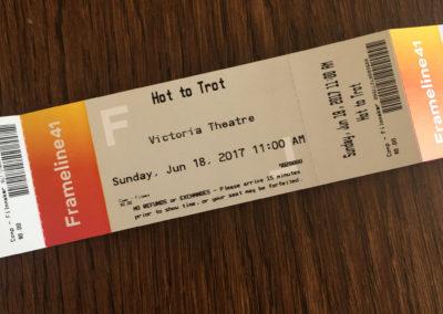Hot to Trot movie ticket – Frameline festival (Photo by Gail Freedman)