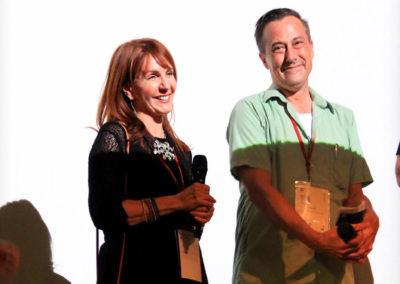 Director Gail Freedman & Frameline staffer Kevin Schaub (Photo by Aliah Alsarraf)