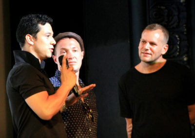 Ernesto Palma, Nikolai Shpakov, Robbie Tristan at HTT World Premiere (Photo by Aliah Alsarraf)
