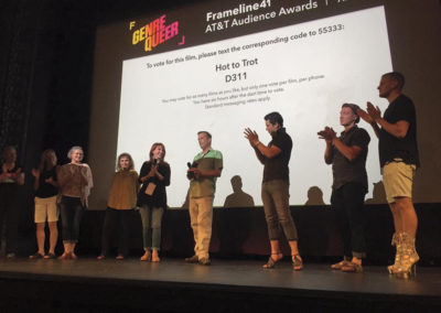 Post-screening Q&A at HTT World Premiere