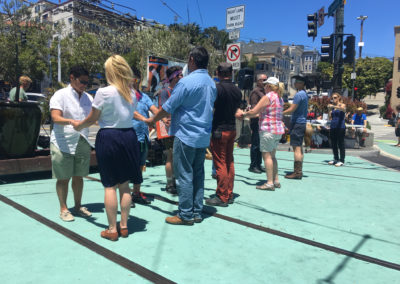 Pop-up dance lesson in the Castro for Hot to Trot