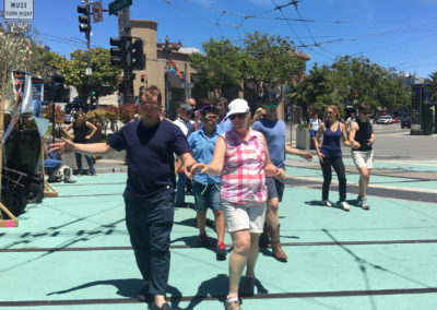 Pop-up dance lesson in the Castro for Hot to Trot (Photo by Gail Freedman)