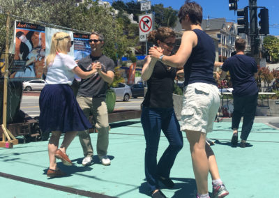 Pop-up dance in the Castro for HTT's Frameline premiere (Photo by Gail Freedman)