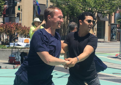Nikolai Shpakov & Ernesto Palma, pop-up dance in the Castro